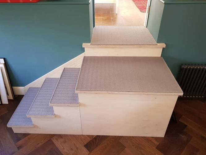 alternative flooring stair case
