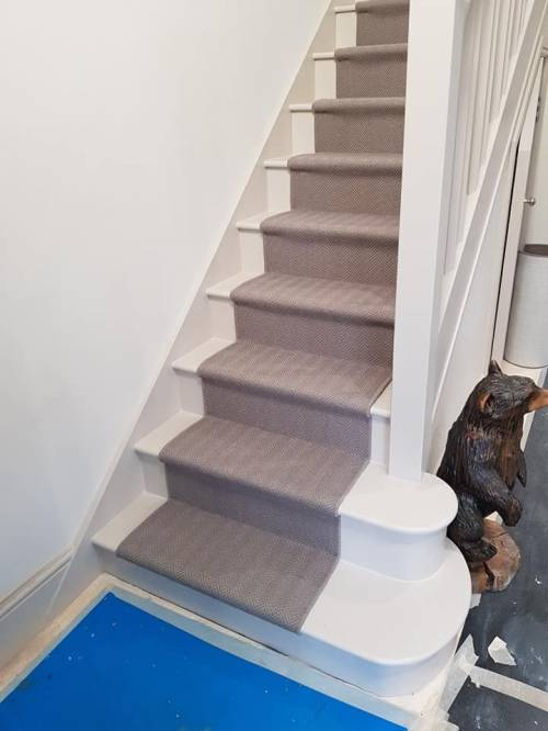 Staircase using Alternative Flooring - By Floorstyles Ltd
